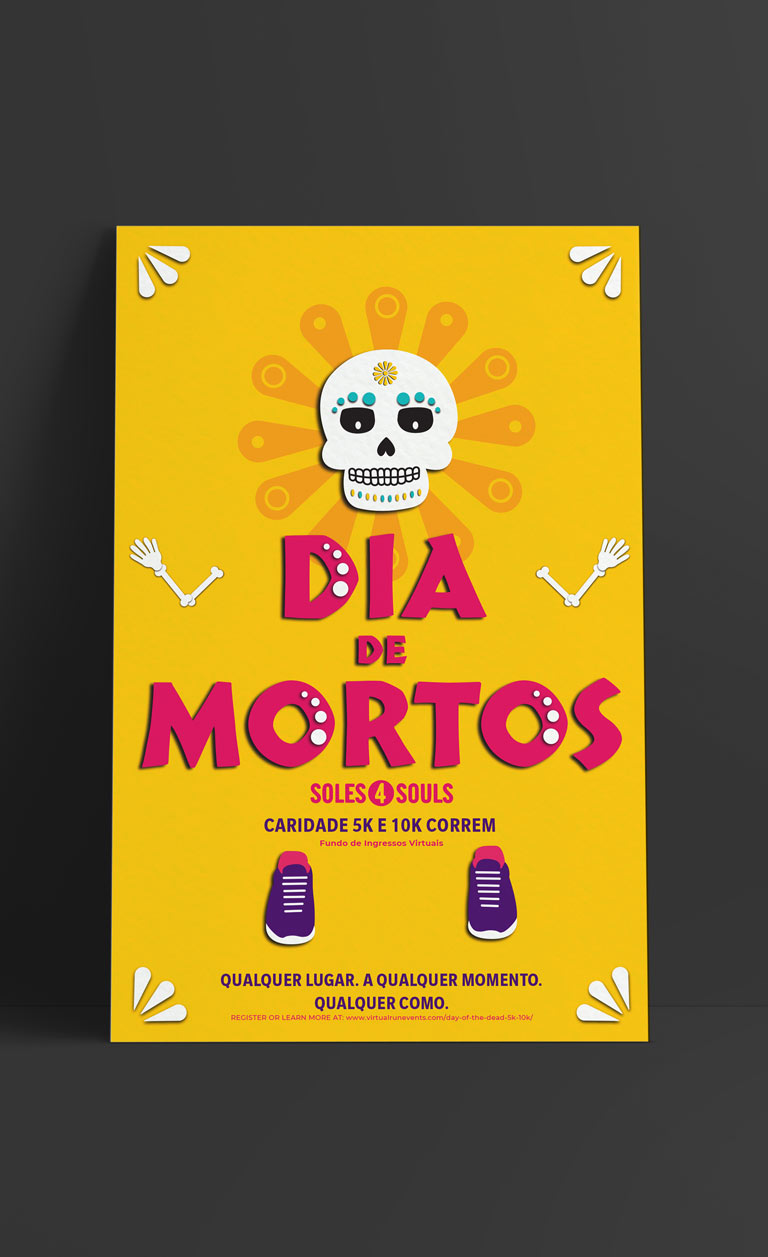 Day of the Dead poster in Portuguese