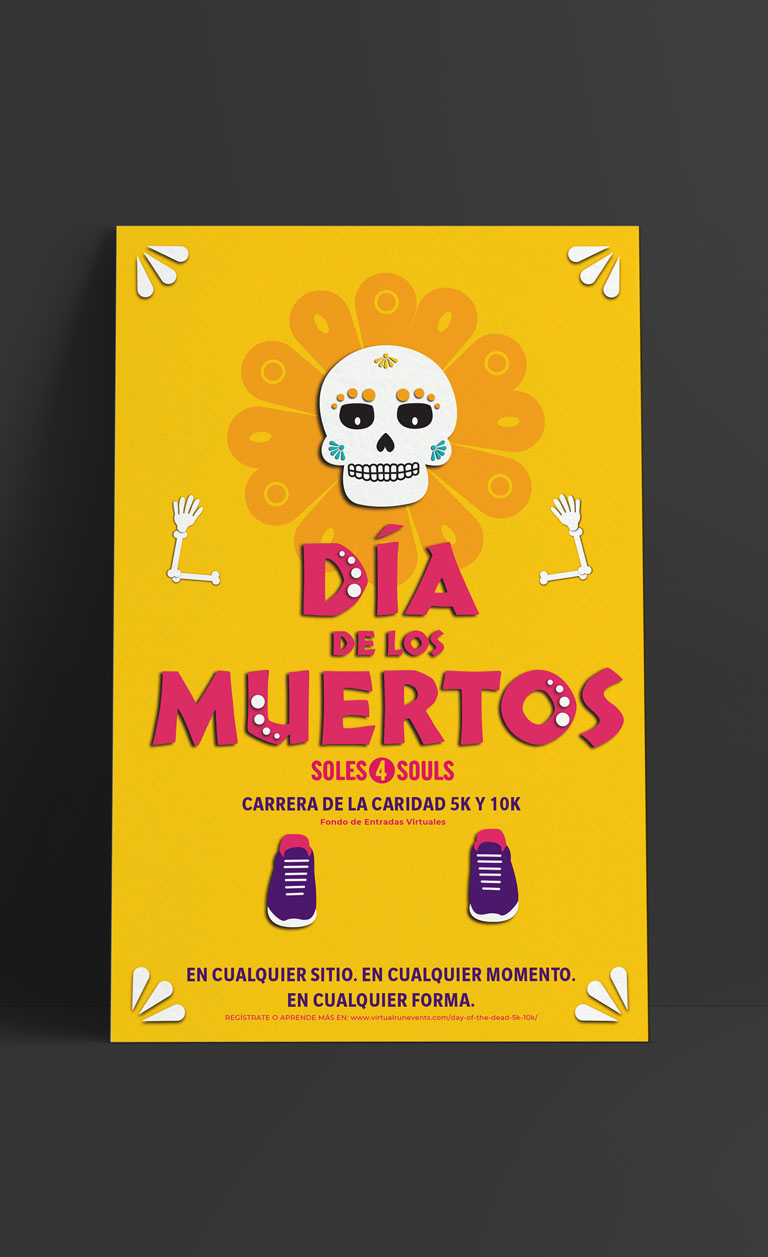 Day of the Dead poster in Spanish